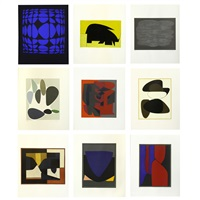 octal (9 works) by victor vasarely