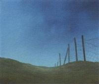 dijk bij electra - landscape with fence by johan abeling