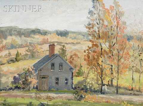 country house in autumn by anthony thieme