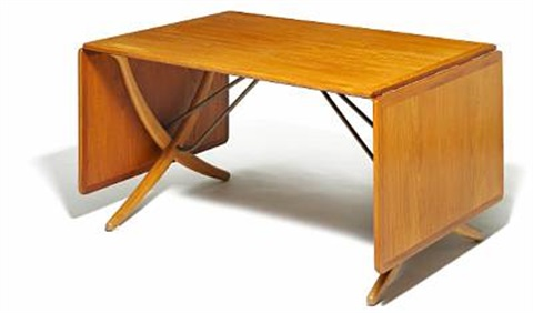 Cross leg dining table with flip down leaves model at 314 by hans j cross leg dining table with flip down leaves model at 314 watchthetrailerfo
