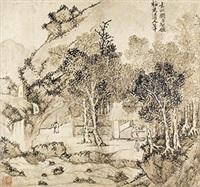 仿梅花道人笔 镜心 水墨纸本 by liu yuanqi