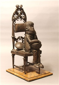 chico sentado by giacomo manzù