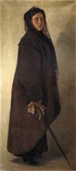retrato de doña florentina rey, esposa del pintor by nicolás (jiménez caballero navarro) alpériz