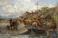 loading the cattle, isle of skye by charles james adams