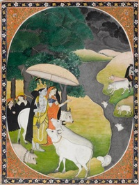 krishna und radha im regen by anonymous-indian (19)