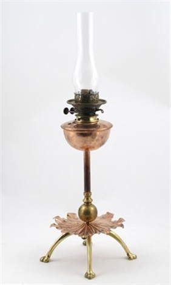 oil lamp by william arthur smith benson