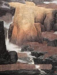 大岳飞歌 (landscape) by xu chaoyu