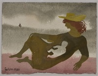 mother and child by the sea by mary fedden