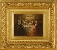 dining room scene by marie-abraham rosalbin de buncey