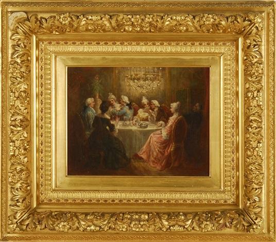 dining room scene by marie abraham rosalbin de buncey