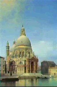ansicht der kirche s. maria della salute in venedig by achile battiztuzzi