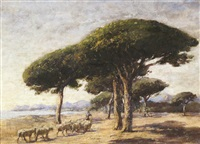 stone pines, near cannes by nathaniel hone the younger