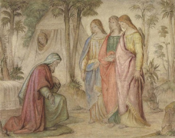 abraham und die engel gottes der besuch in mamre by philipp veit