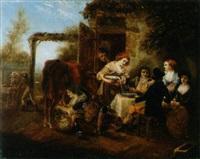 das essen auf dem bauernhof by armand auguste freret