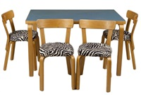 table and four chairs (set of 5) by alvar aalto