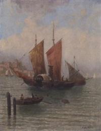 fischerboot im hafen by van hoom