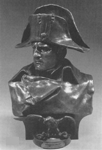bust of emperor napoleon i in military dress by ambrogio colombo
