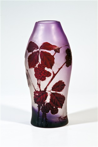 vase by gräfliche harrachsche glasfabrik co