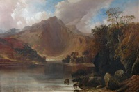 calm on a highland loch by clarence henry roe