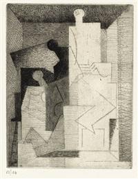 10 eaux-fortes pour aurelia (portfolio with complete text and 10) by louis marcoussis