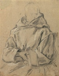 portrait de dom louis baudouin du basset (study) by jean restout the younger