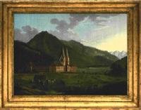bilderuhr - ansicht von schloss tegernsee by german school-southern (19)