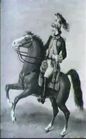 franzosischer gardeoffizier zu pferd by d dedrez