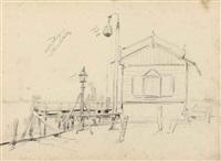 oude steiger, maassluis (+ 6 others; 7 works) by johan conrad greive