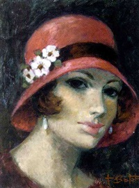 le chapeau rouge (+ les cosmos; 2 works) by francois batet