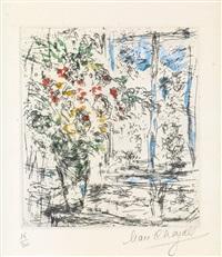 la fenêtre de l'atelier à saint-paul by marc chagall
