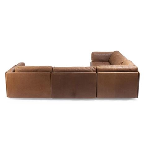 Modular corner sofa comprising three modules, upholstered ...