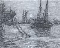 harbor in brittany by walter griffin