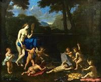 vénus à la fontaine by charles alphonse dufresnoy