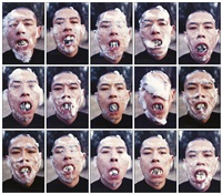 foam series (15 works) by zhang huan