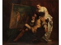 der junge maler tizian by edouard jean conrad hamman