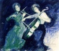 musizierende damen by max spielmann