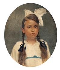 retrato de la niña conchita venegas by nicolás (jiménez caballero navarro) alpériz