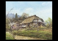 mountain village in the spring by shigeo ishikawa