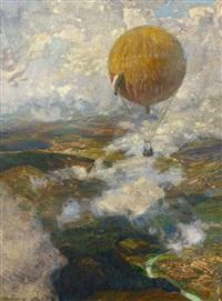 im fesselballon über den vogesen by otto antoine