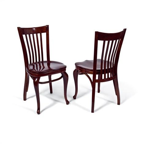 zwei sessel f r das cafe capua pair by adolf loos. Black Bedroom Furniture Sets. Home Design Ideas