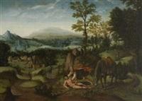 landschaft mit der darstellung des gleichnisses vom barmherzigen samariter by flemish school (15)