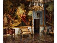salon der königin in der münchner residenz by friedrich gurlitt