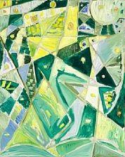 komposition i grønt og gult by egill jacobsen