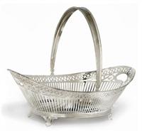 swing-handled cake basket by d.j. aubert