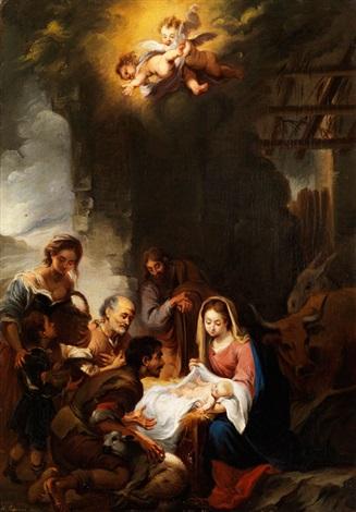 anbetung der hirten im stall von bethlehem by manuel cabral aguado bejarano