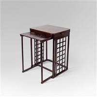 jourtisch-satz (set of 2) by josef hoffmann
