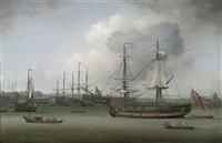 a royal naval dockyard on the thames by louis dodd