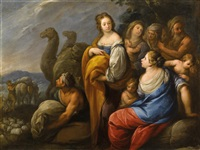 rahel verbirgt die götzenbilder by carlo francesco nuvolone