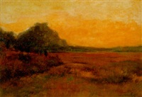sunlit meadow by john willard raught