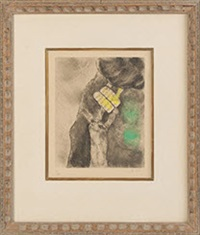 moses receiving the ten commandments by marc chagall
